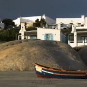 Barque sur la plage de Paternoster