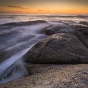 Coucher de soleil sur l'Océan Atlantique au Cap