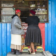 Le Cap: Scène de vie dans le township de Langa