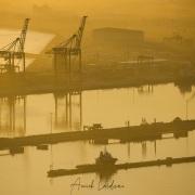 Lever de soleil sur le port du Cap
