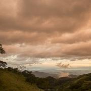 Paysage de montagne en fin de journée