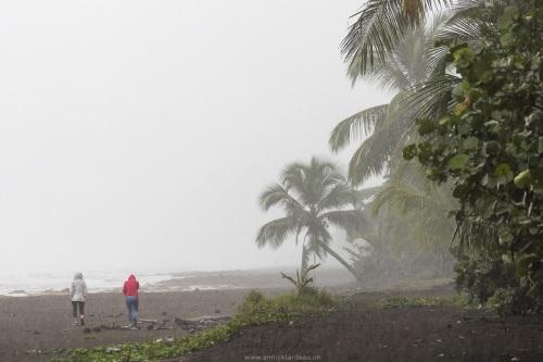 Ambiance plutôt humide sur la plage de Tortuguerro