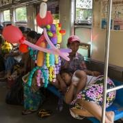 Yangon: Dans le train circulaire