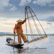 Lac Inle: Pêcheur traditionnel