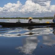 Lac Inle: Couple de pêcheurs