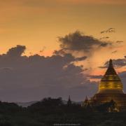 Bagan: Pagode en fin de journée