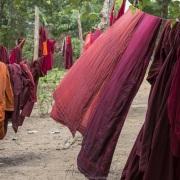 Monastère: Séchage des robes