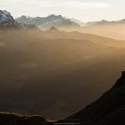 Jeux de lumières dans les Alpes vaudoises