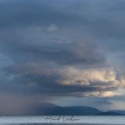 Un ciel chargé sur le lac de neuchâtel