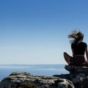 Pause au sommet de la Montagne de la Table