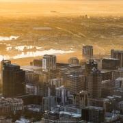 Le Cap: Lever de soleil sur la ville