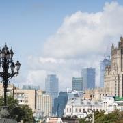 Bâtiments modernes et historique, Moscou