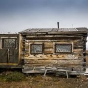 Cabane de rangers sur l'ile de Wrangel