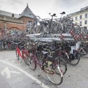 Parking à vélos devant la gare de Copenhague