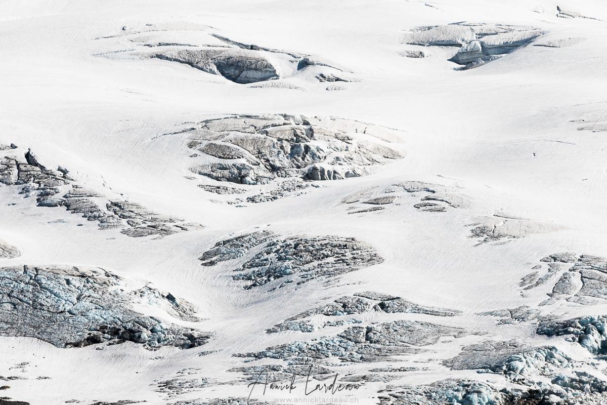 Détail de glacier, vallée des glaciers