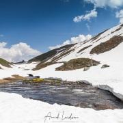 Fonte des neiges au col du Petit Saint Bernard, Savoie