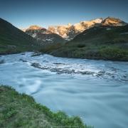 Eclairage de fin de journée sur les sommets, Savoie