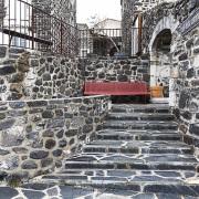 Village de Saint Laurent sous Coiron: village en noir&blanc