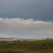Paysage d'Aubrac par temps pluvieux