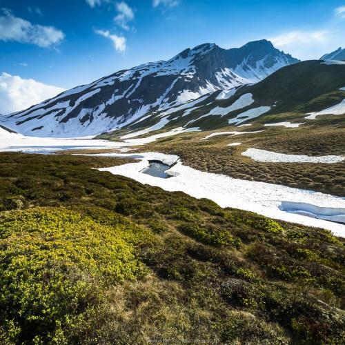 Fonte des neiges au col du Petit Saint Bernard, Italie