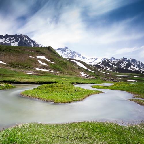 Ruisseau de montagne, Cormet de roselend, Savoie