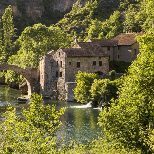 Aveyron: Moulin sur la Dourbie vers St-Véran