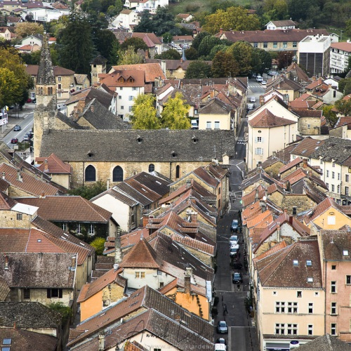 Cité médiévale de Crémieu: Vue depuis la colline St Hippolyte