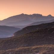 Coucher de soleil dans les Zagoria