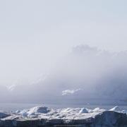 Iceberg et brume de mer, Baie de Disco
