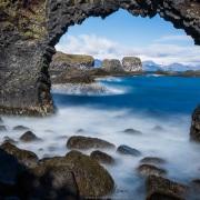 Arche audessus de la mer, Péninsule de Snæfellsnes