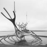Reykjavik: Sólfar, une sculpture en acier représentant un drakkar viking