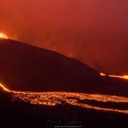 Volcan  Geldingadalir en pleine activité