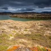 Paysage, lac de Myvatn