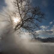 Solleil et brume