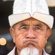 Marché de Bishkek: scène de vie