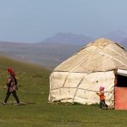 Plateau de Son Kul: scène de vie