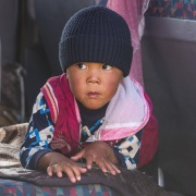 Portrait d'enfant kirghize