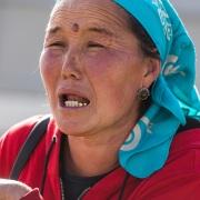 Portrait de nomade kirghize