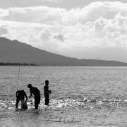Lac Issyk-Kuk: pêcheurs