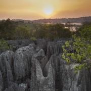 Coucher de soleil sur les Petites Tsingy