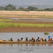 scène de vie le long de de tsiribihina