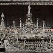 Monastère en teck de Shwenandaw: Mandalay