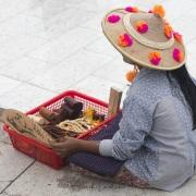 Vendeuse sur l'esplanade du Rocher d'or