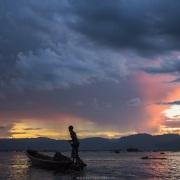 Lac Inle: Coucher de soleil