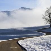 Paysage hivernal et préalpes fribourgeoises