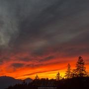 Coucher de soleil sur les Alpes vaudoises depuis le col de la Croix