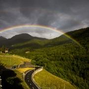 Double arc-en-ciel sur la route des Mosses
