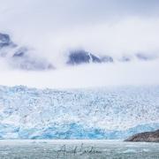 Glacier et nuages