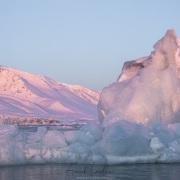 Coucher de soleil en fond de fjord