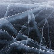 Lac gelé: glace vive